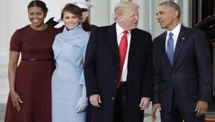 Trump inicia el día acudiendo a servicio religioso